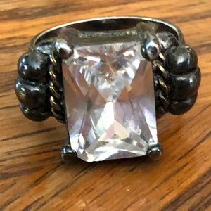 Vintage Women's silver tone ring